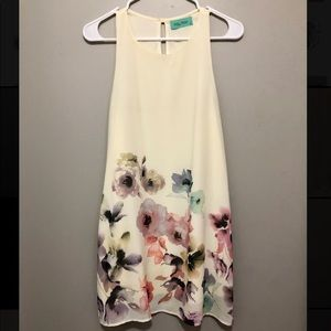 Off-white floral dress
